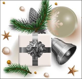 Caja navideña modelo Plata